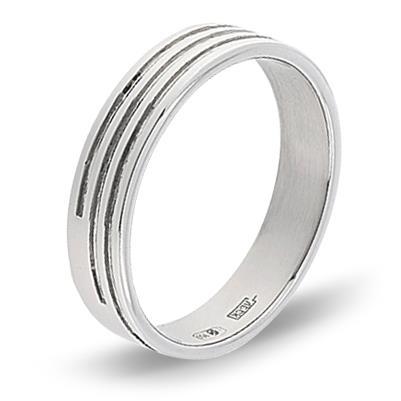 кольцо обручальное из платины 15007607
