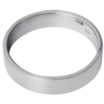 Плоское обручальное кольцо из платины 15003793