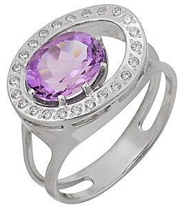 кольцо c аметистом из серебра 1R121577