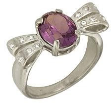 кольцо c аметистом из серебра 1R121562
