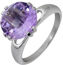 кольцо c аметистом из серебра 3067001617