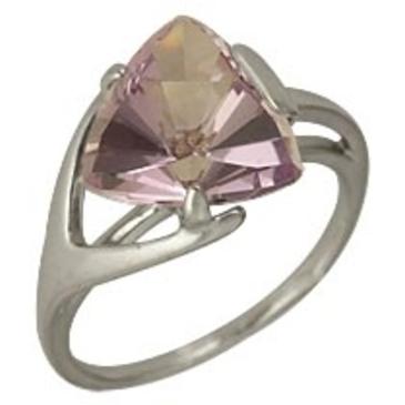кольцо c аметистом из серебра 3067001819