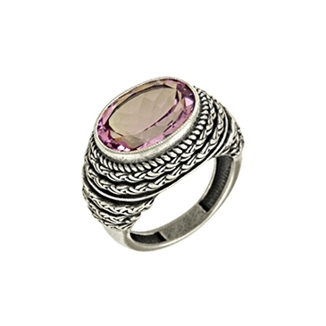 кольцо c аметистом из серебра 3061001661