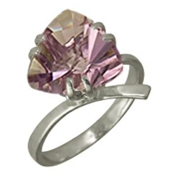 кольцо c аметистом из серебра 3067001413