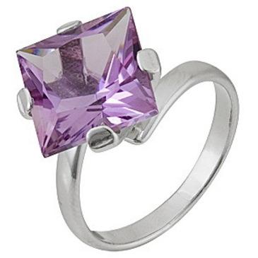 кольцо c аметистом из серебра 1R101755