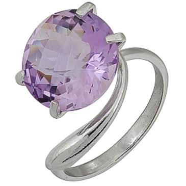 кольцо c аметистом из серебра 3067000149
