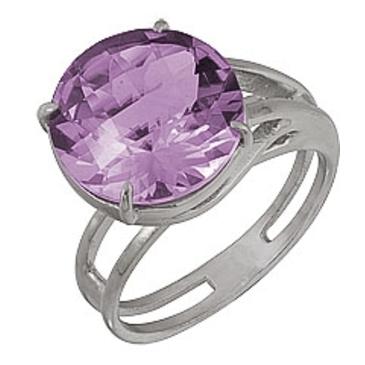 кольцо c аметистом из серебра 3067000498