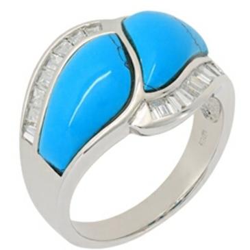 кольцо c бирюзой из серебра t317r от EVORA