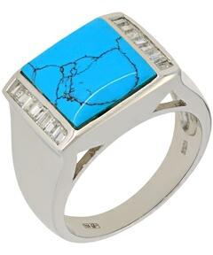 кольцо c бирюзой из серебра td059