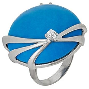 кольцо c бирюзой из серебра 3737002118 от EVORA
