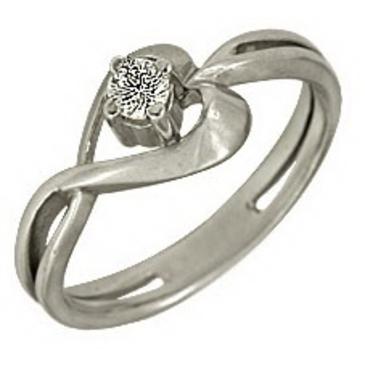 кольцо c бриллиантом из серебра 1R031592 от EVORA