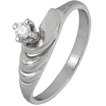 кольцо c бриллиантом из серебра 1R03369 от EVORA