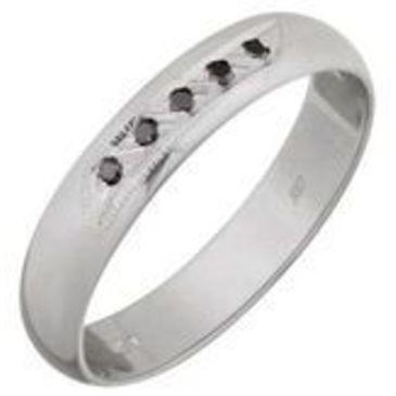 кольцо c бриллиантами из серебра 3007008013
