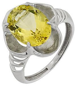 кольцо c цитрином из серебра 3097001997
