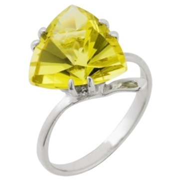 кольцо c цитрином из серебра 3097001413