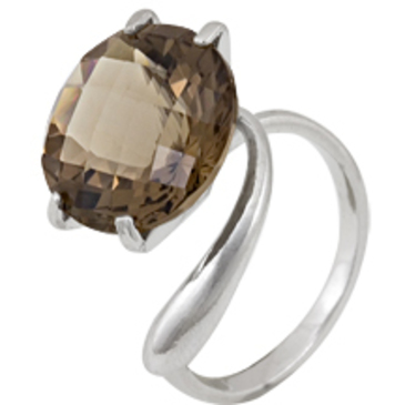 кольцо c цитрином из серебра 3097000149