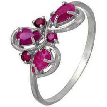 кольцо c корундами из серебра 3987002684-4