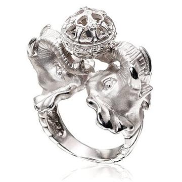 Кольцо 'СЛОНЫ' из серебра К-25034
