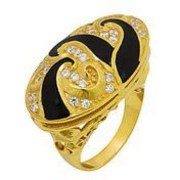 кольцо c фианитами из серебра 3642002107