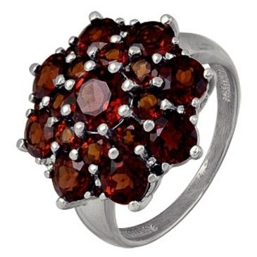 кольцо c гранатами из серебра 3137003109