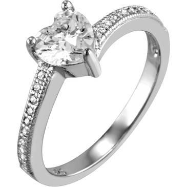 Кольцо Ambrosia из серебра AAA 015