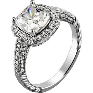 Кольцо Ambrosia из серебра AAA 012
