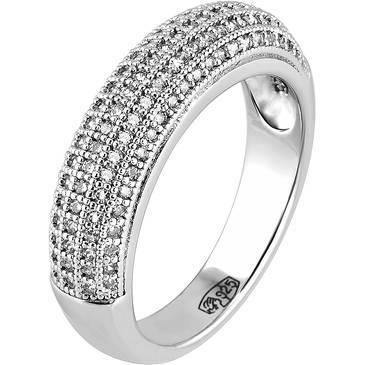 Кольцо Ambrosia из серебра AAA 002