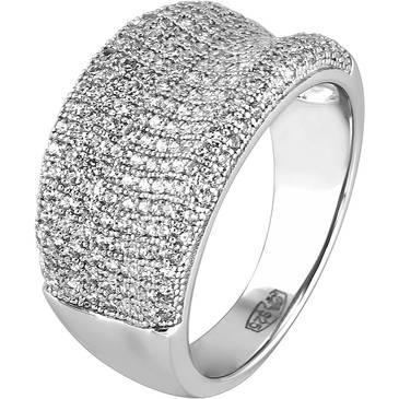 Кольцо Ambrosia из серебра AAA 004
