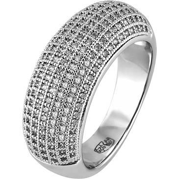 Кольцо Ambrosia из серебра AAA 005