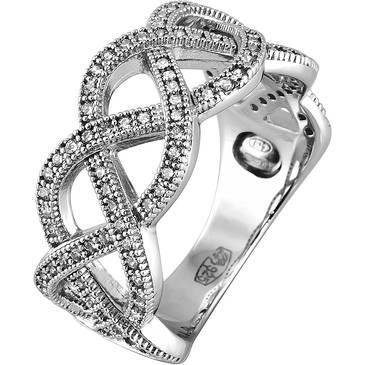 Кольцо Ambrosia из серебра AAA 009