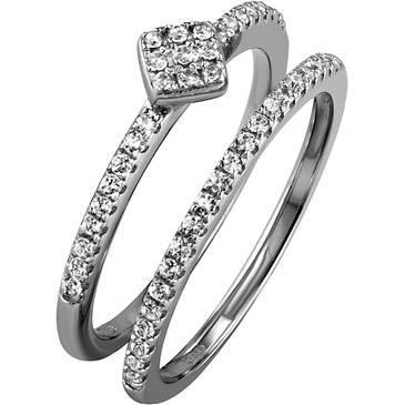 Кольцо Ambrosia из серебра AAA 018