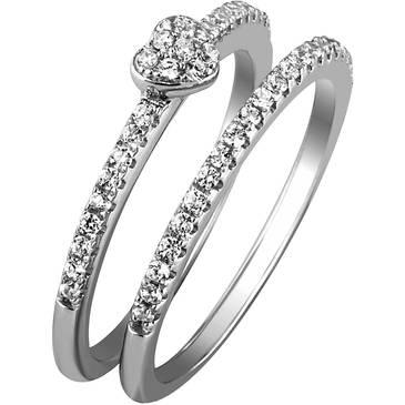 Кольцо Ambrosia из серебра AAA 016