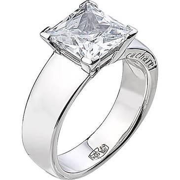 Кольцо Cacharel с крупным квадратным камнем из серебра CSR175Z