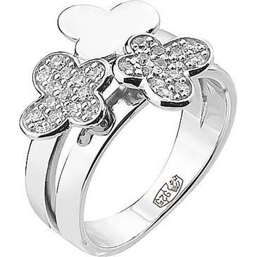 Кольцо Cacharel тремя бабочками из серебра CSR302Z
