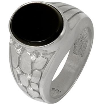 кольцо c ониксом из серебра 3987005038