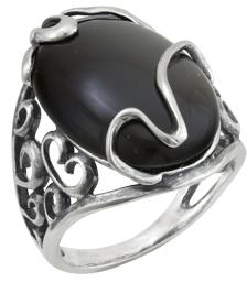 кольцо c ониксом из серебра 3431001957