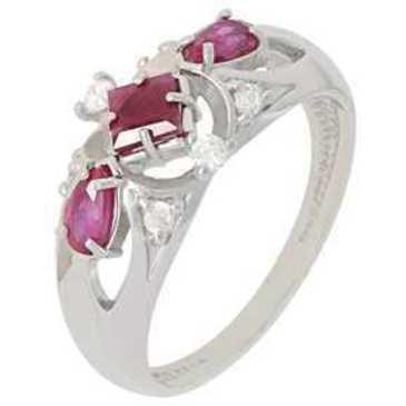 кольцо c рубинами из серебра 3987002454-10 от EVORA