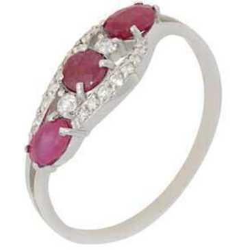 кольцо c рубинами из серебра 3987002457-10 от EVORA