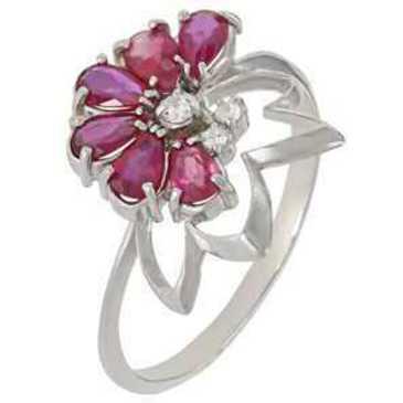 кольцо c рубинами из серебра 3987002453-10 от EVORA