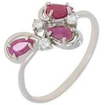 кольцо c рубинами из серебра 3987002684-10 от EVORA
