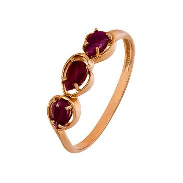 кольцо c рубинами из серебра 3022002983 от EVORA