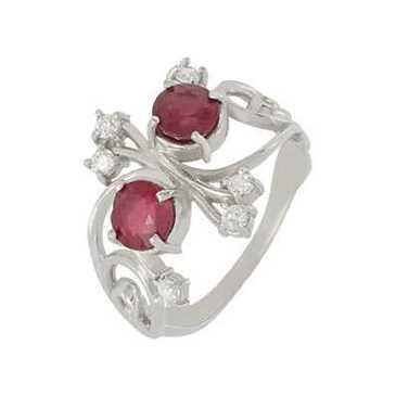 кольцо c рубинами из серебра 3987002451-10 от EVORA