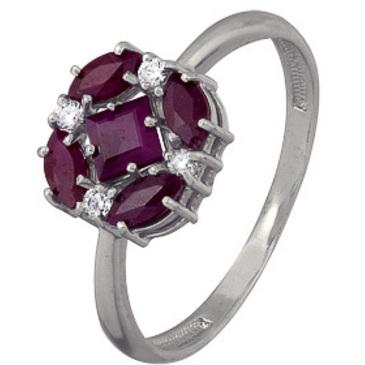кольцо c рубинами из серебра 3987003005-10 от EVORA
