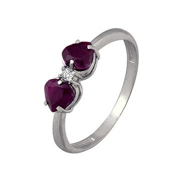 кольцо c рубинами из серебра 3987003008-10 от EVORA