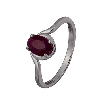 кольцо c рубином из серебра 3027003595 от EVORA