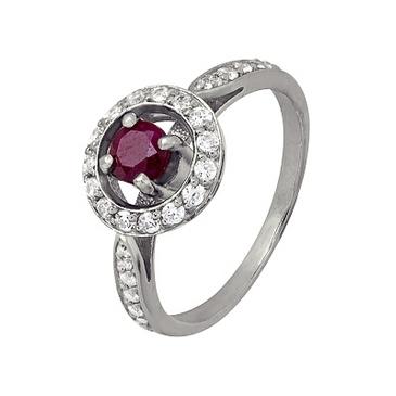 кольцо c рубином из серебра 1r2g6261 от EVORA