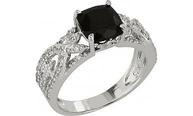 Золотое кольцо с сапфиром и фианитом 99911 есть в наличии на складе. . Украшение выполнено из золота