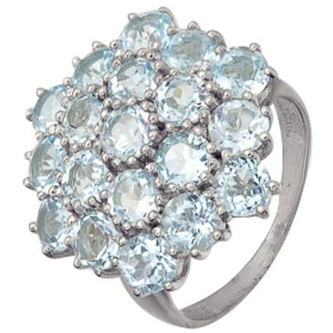 кольцо c топазами из серебра 3077003211 от EVORA