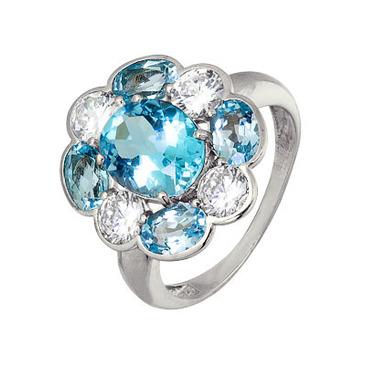 кольцо c топазами из серебра 3757003415 от EVORA