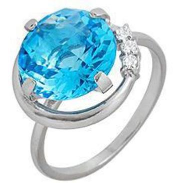 кольцо c топазом из серебра 3757000339 от EVORA